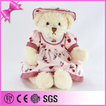 Wholesale product cute Teddy bear with colour hat plush children toy stuffed bear toy
