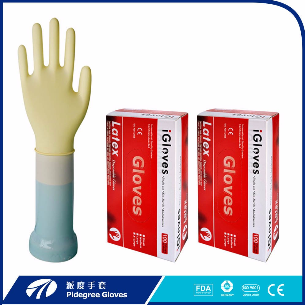 Good quality low price disposable cheap latex examination gloves in malaysia
