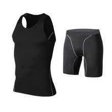 hot sale compression training tights fitness wear sets tops and pants set supplier