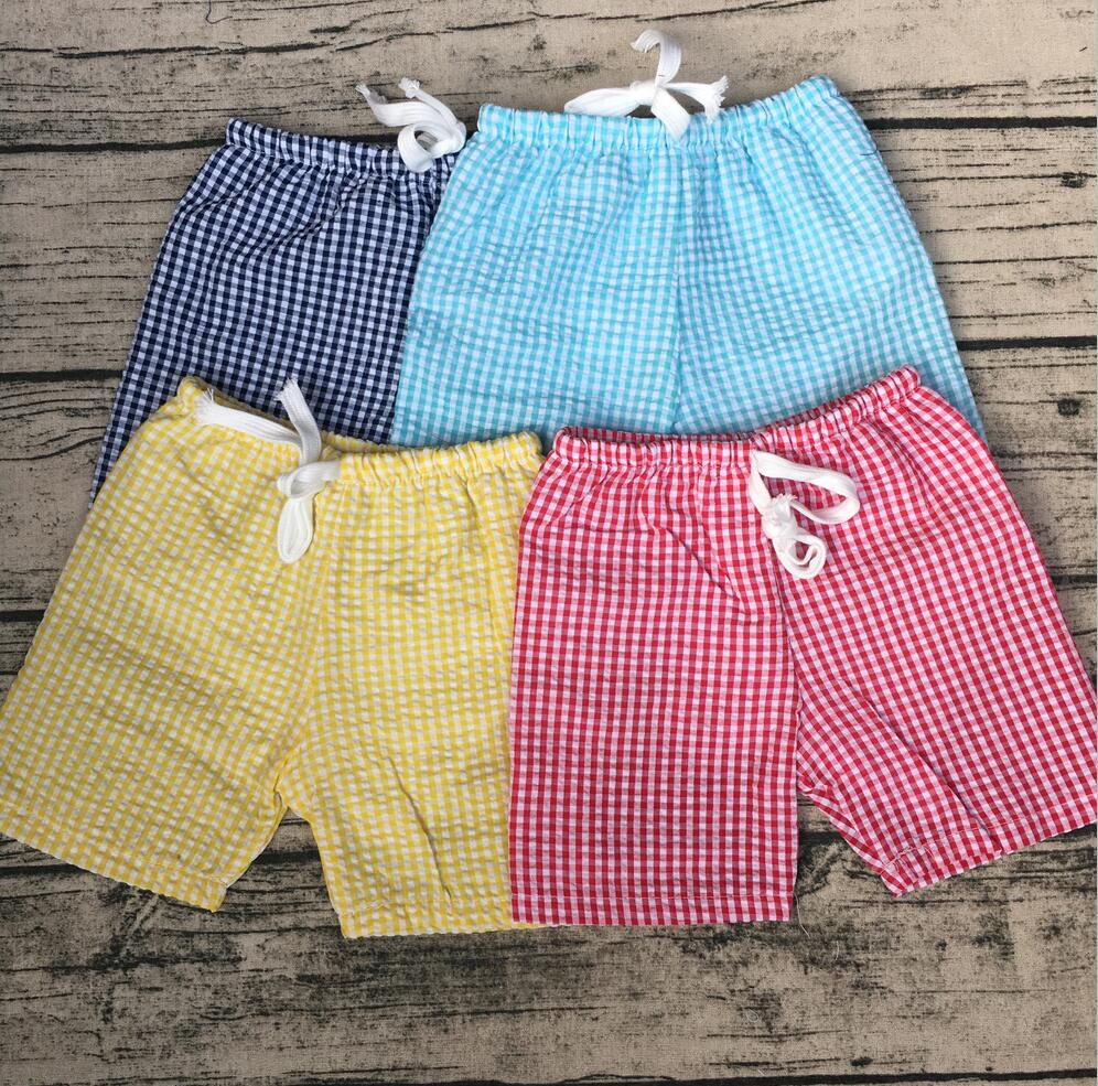 Seersucker shorts baby swimming shorts high elastic waist Boutique Toddler running playing shorts Kids Seersucker bloomer