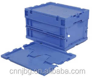 new pp Foldable plastic logistic container space saving easy transportation