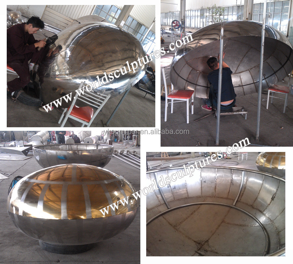 large stainless steel oval ball ellipsoid
