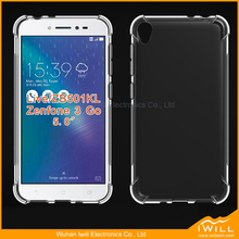 Crashproof alpha shockproof tpu case for Asus Zenfone 3 Go Live ZB501KL clear covers
