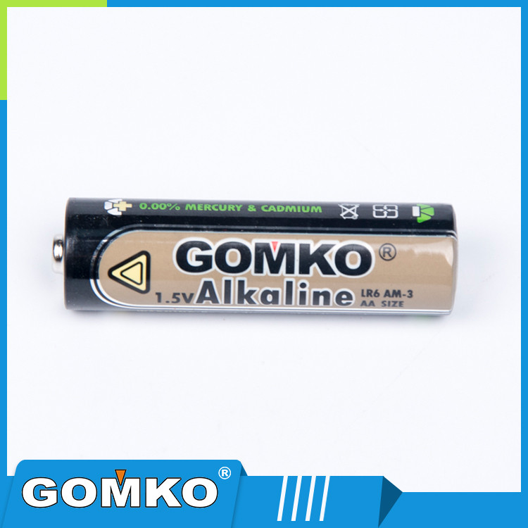 Zn/MnO2 battery type 1.5v AA size alkaline battery