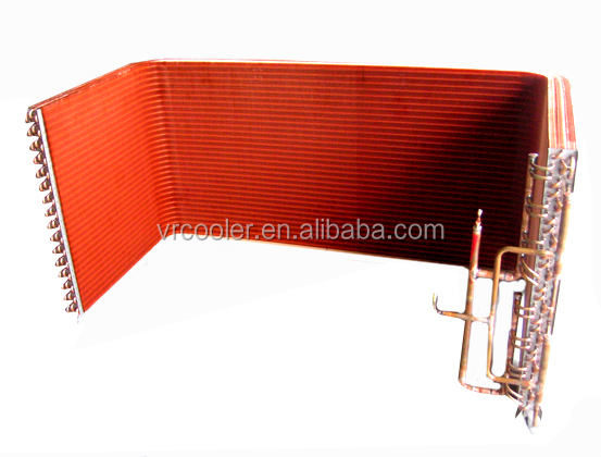 U type copper tube copper fin condenser coil
