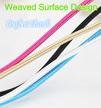NEW 1 m Weaved V8 USB Cable Micro USB Cable Cute Pure Color Weaved Micro USB Data Cable