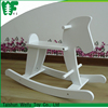 2016 Newest white wooden rocking horse toy , rocking horse