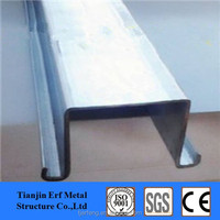 40x54x25 zinc coated top hat channel size, metal omega steel profile