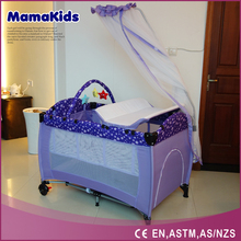 Europe standard baby playpen with mosquito classic foldable baby travel cot