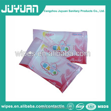 High quality 10pcs travel pack baby wipes premium non woven wipes with custom printing