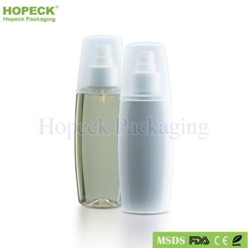 small oval shape PET plastic bottle for shampoo 100ml