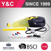 portable popular DC12V car vacuum cleaner with air compressor