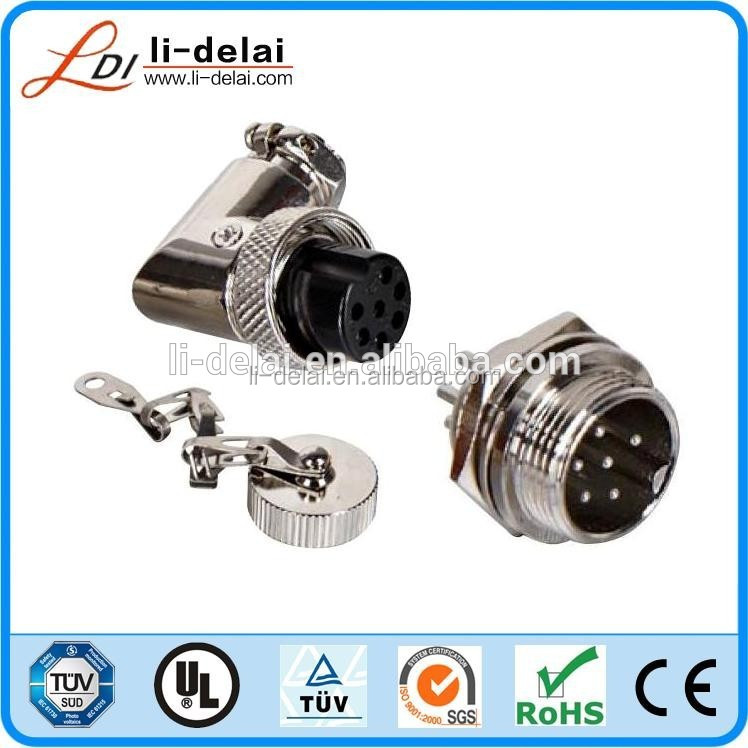 AC 15A 6Pin Circular Connector Waterproof Electrical Deck Plug