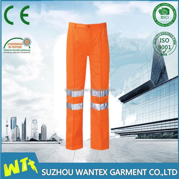 hi-vis reflective working trousers pants from chinese factory