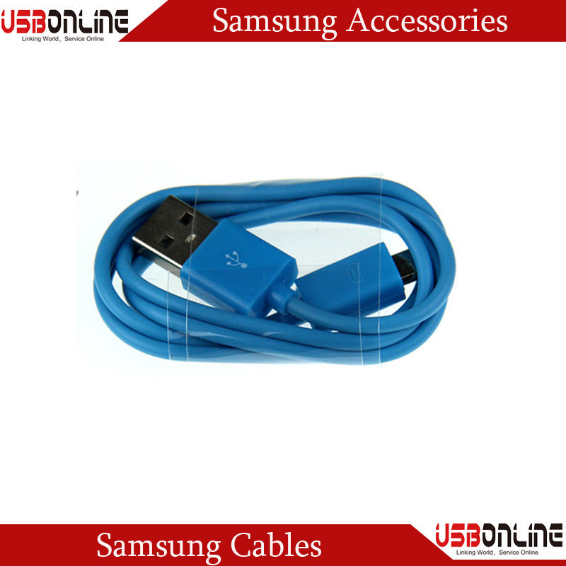 3.3FT/1M sky blue Micro USB Data Cable for Samsung Galaxy S4 S3 III Note 2 II I9500