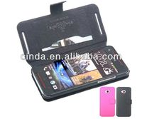 Genuine Real Leather Case Flip Cover Card Slot Wallet for HTC Butterfly S 9060