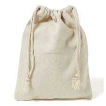Online hot sell cotton gift cloth promotional plain drawstring bags wholesale