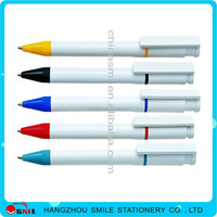 ad plastic ball pen with logo 5 in 1 multifunction pen