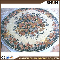 Chinese Professional Waterjet Marble Patterns/Marble medallion waterjet tile/Marble floor pattern tiles
