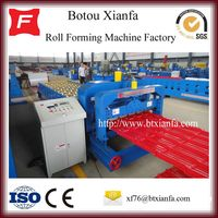 High Performance Hydraulic Cutting Metal Step Tile Roll Forming Machinery