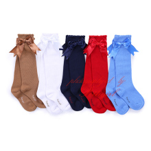 Latest Design Girls Socks with Bow Cute Kids Sock Knee-length Cotton Girl Wear For 1-6Y