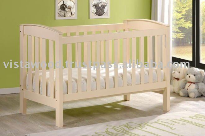 wooden crib, wooden cot, baby crib