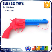Cheap air pressure voice gun mini revolver plastic toy gun safe