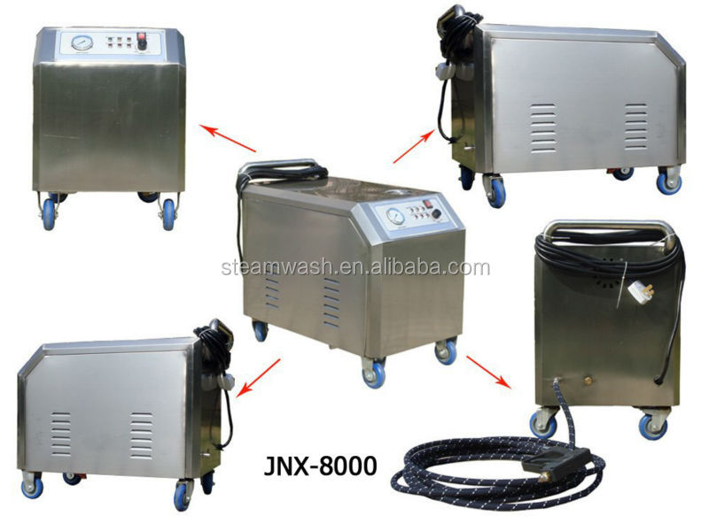 CE Electric portable steam car wash equipment 8KW Powerful steam jet