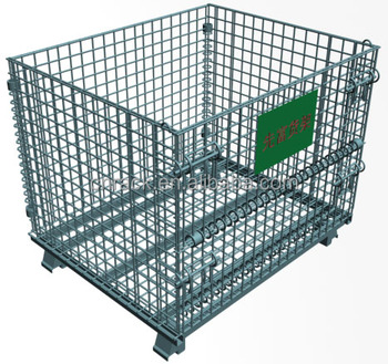 Japanese Folding Wire Mesh Basket With Caster