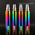 big battery mod e cigarette GS eGo II Rainbow 2200mah colored smoke e cigarette
