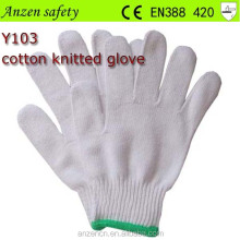 high quality disposable cotton knitted neon winter gloves
