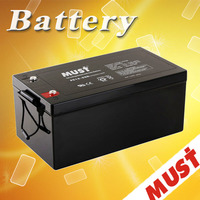 AGM 12v 250ah agm solar battery / inverter long life solar battery 12v /12v l2-400 auto battery