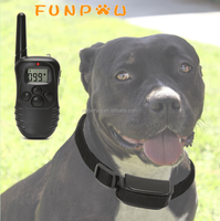 300 Yard Rechargeable & Waterproof Electronic No-Barking LCD Screen Shock Control With 100 Level Vibration Dog Training Collar