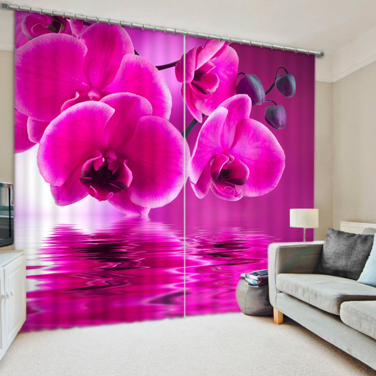 American Style Hot Sale Hotel Blackout 3D Printed Living Room Door Window Curtain