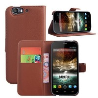 China Factory Magnetic Wallet Style Flip PU Leather Case for Wiko Darkfull Cover with Card Slots