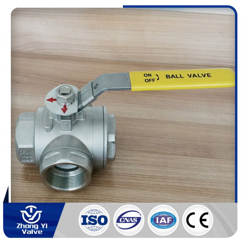 3 way gas ball valve high temperate