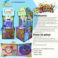 2015 New product Fish hunter mini arcade coin operated lottery game machine for kids