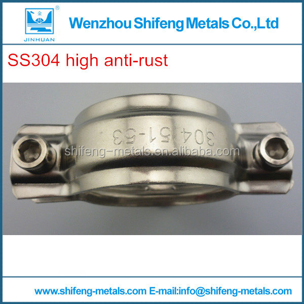 High anti rust Sanitary Stainless Steel 304 Round and long with hand polished Pipe Hanger
