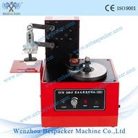 Manual round plate pad expiry date batch code embossed printer coding machine