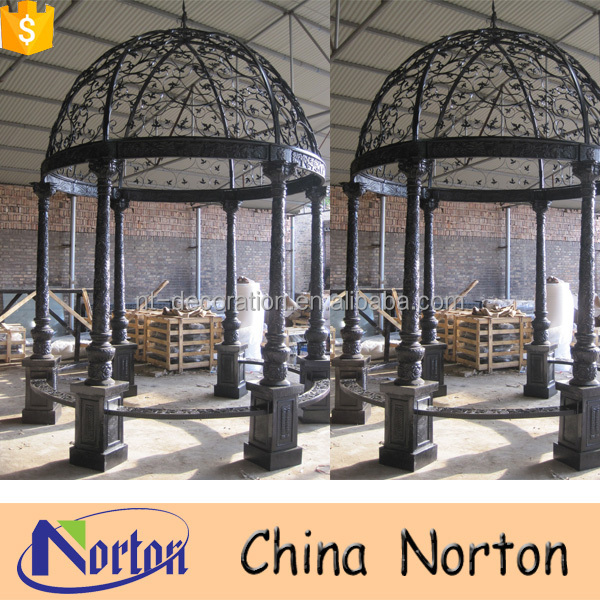 Outdoor round chinese antique metal garden gazebo NTIG-291A
