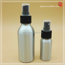 120ml empty and round aluminum bottle essential oil perfume , olive oil aluminum bottle for body spray