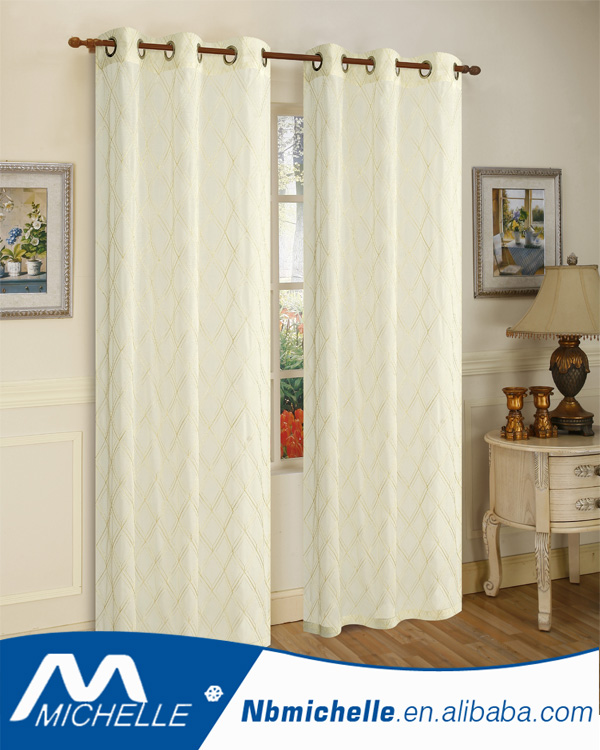 Hot Sales Home Grommet Window Embroidery Voile Curtain Panel