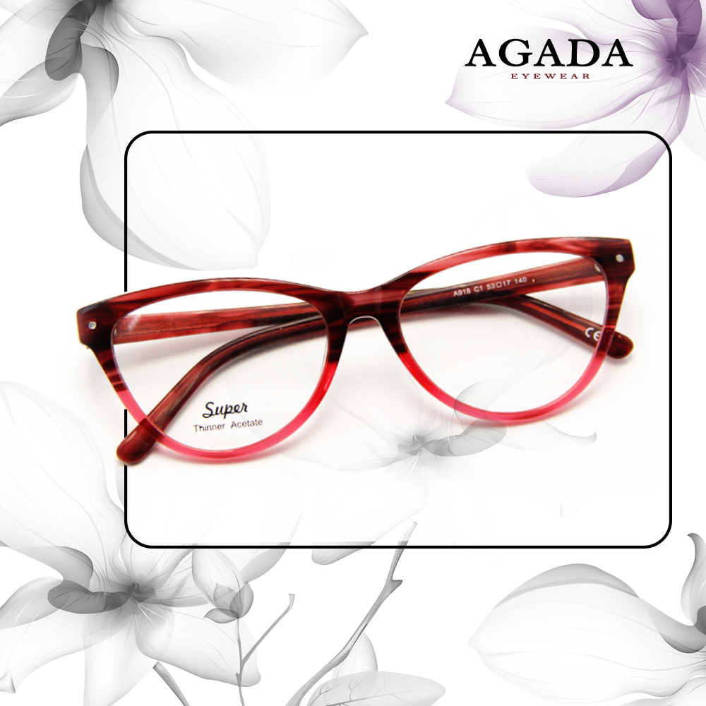 High Qiality New Model Super Thinner Acetate fashion glasses for girls