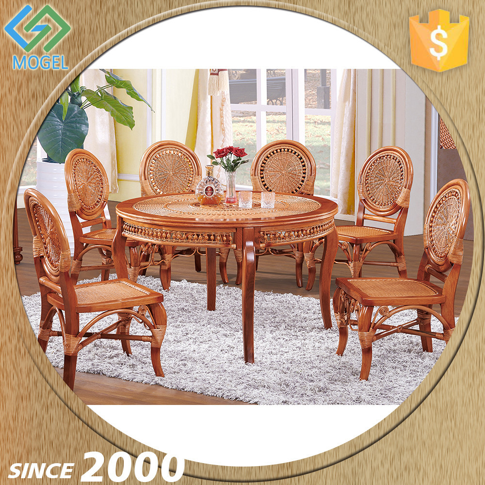 Reasonable Price Restaurant Wicker Dining Table Designs Four Chairs