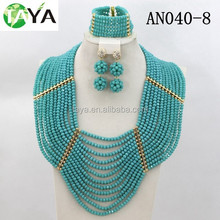 2015 high quality handmade jewelry set fashion health crystal beads