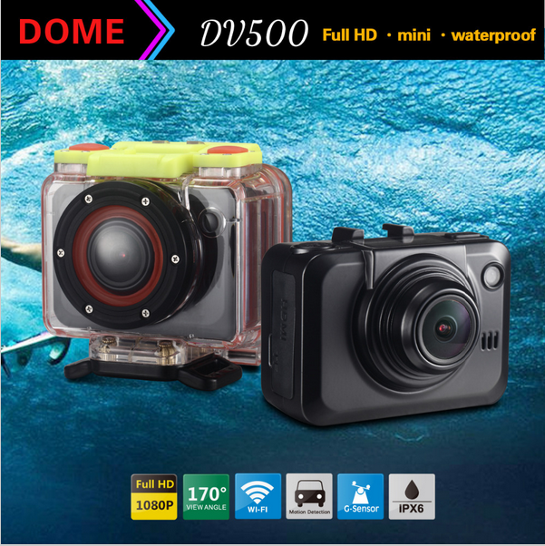 Wifi sport camera waterproof android4.0 mini action OLCD Screen h.264 video camera 170 wide anglehd 1080p helmet sport action c