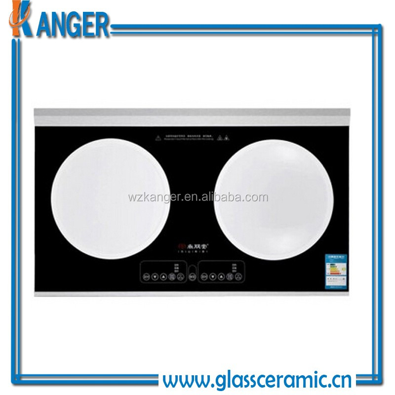 Small Gas Cooktop 2 Burner ceramic faceplate