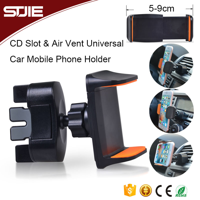 Universal Smart Air Vent Cell Phone Cradle Cd Slot Car Mount Cellphone Holder For Smartphone Mobile Stand CH002