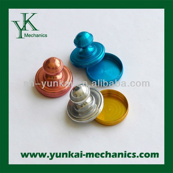 Aluminum machining cover, high precision CNC turning parts, various color accepted