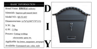 China Factory Color Odm/Oem Cast Aluminum Mail Box